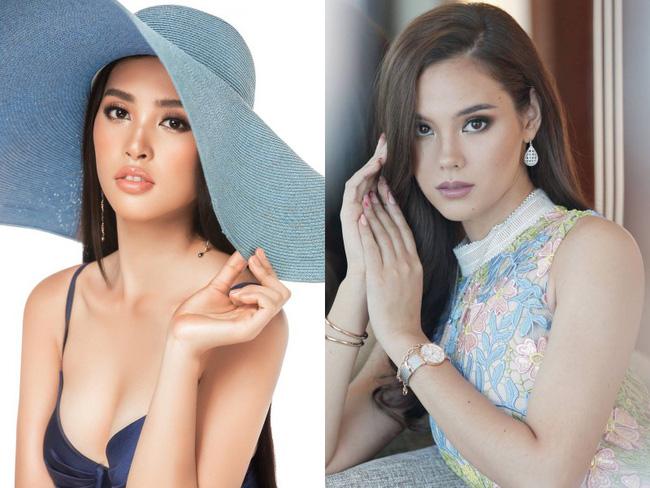 Điểm thú vị đầy bất ngờ giữa nhan sắc của Tân Hoa hậu Hoàn vũ 2018 và Hoa hậu Việt Nam Trần Tiểu Vy 2