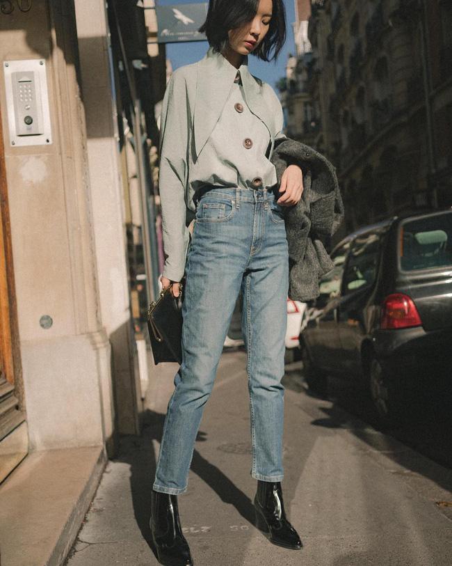 Ngắm 12 set đồ sau, các nàng sẽ nhận ra quần jeans + boots chính là cặp đôi giúp vẻ ngoài đạt 100% sành điệu 7