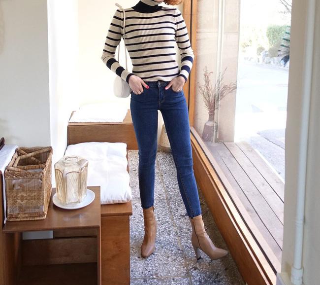 Ngắm 12 set đồ sau, các nàng sẽ nhận ra quần jeans + boots chính là cặp đôi giúp vẻ ngoài đạt 100% sành điệu 11