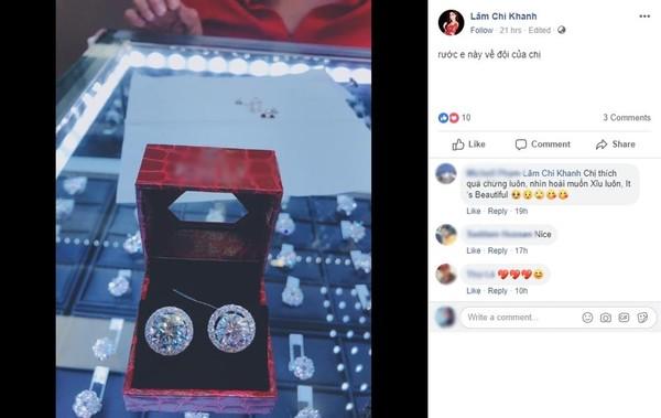 Lâm Khánh Chi khoe bông tai kim cương, 'hét giá' 20 tỷ gần gấp ba chi phí chuyển giới 1
