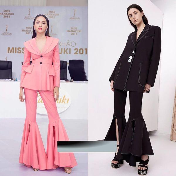 Hoa hậu Hương Giang dính nghi án diện váy nhái thương hiệuEllery. Được biết 'cha đẻ' của thiết kế trên là Lê Ngọc Lâm.