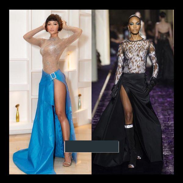 Một thiết kế của nhà tạo mốt Nguyễn Tiến Truyển cũng giống với chiếc váy của thương hiệuVersace.