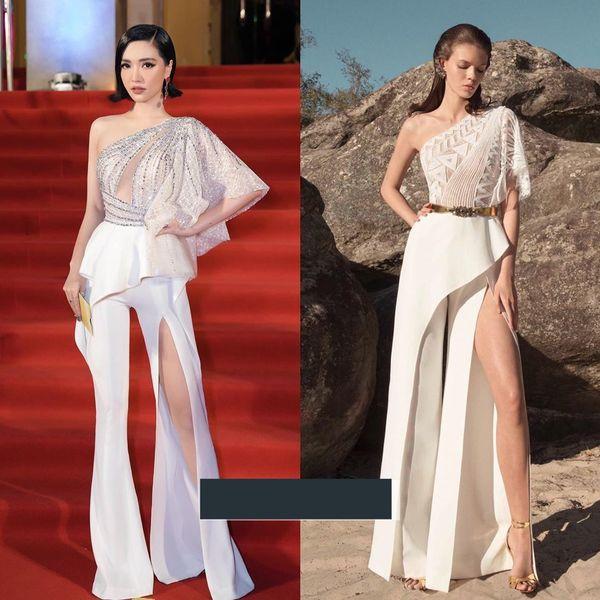 Lại thêm một thiết kế đến từ nhà mốt Linh San được ca sĩ Bích Phương diện gần đây. Thiết kế bị cho là phiên bản nhái của thương hiệu ZuhairMurad.
