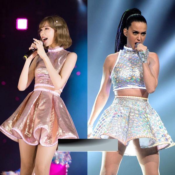 Ca sĩ Min bị cho là diện váy nhái của Katy Perry