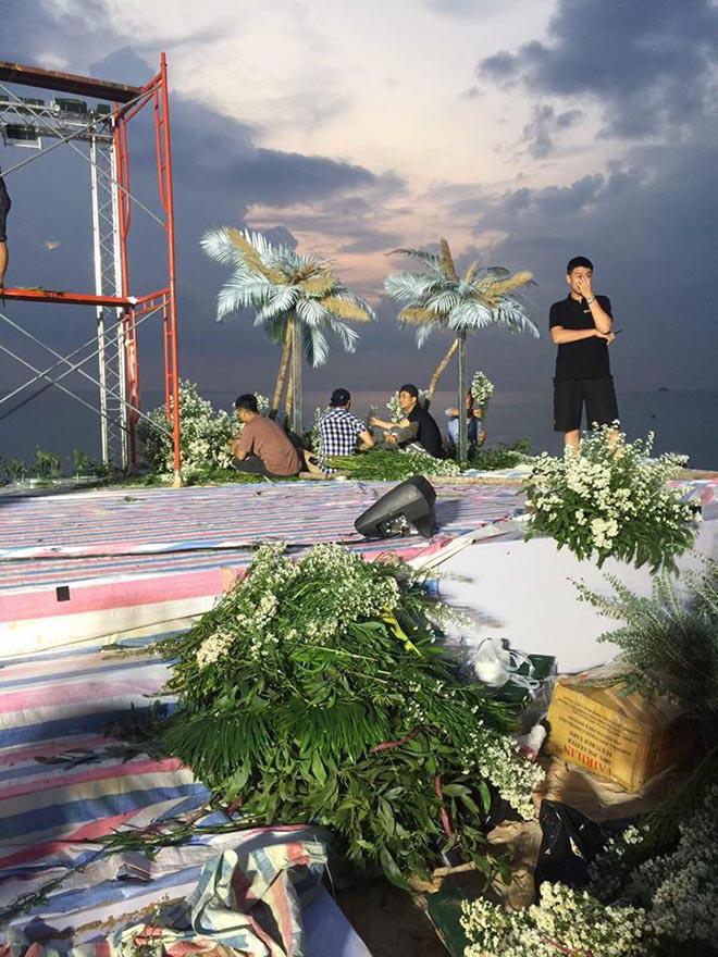 Công tác chuẩn bị cho ngày cưới của Đông Nhi đang diễn ra gấp rút tại Phú Quốc.