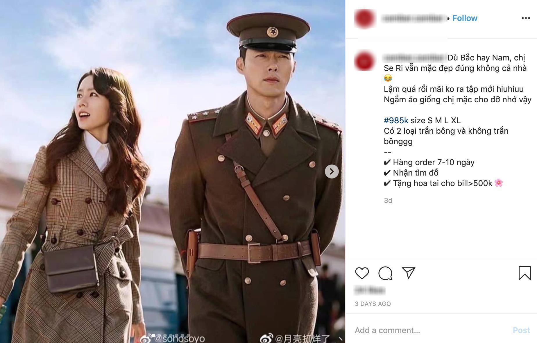 Hay như chiếc áo khoác dạ kẻ Yoon Se Ri mặc chụp poster, giá hàng hiệu cỡ chục triệu nhưng háng fake nhìn cũng rất oách giá còn chưa đến 1 triệu.
