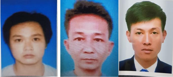Truy nã các đối tượng đặc biệt nguy hiểm: Nguyễn Hữu Phước; Võ Văn Trung và Phạm Tấn Lộc (từ trái qua phải)