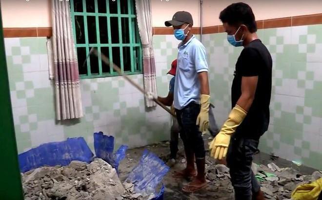 Xác người trong thùng phi bị lấp đầy bê tông.