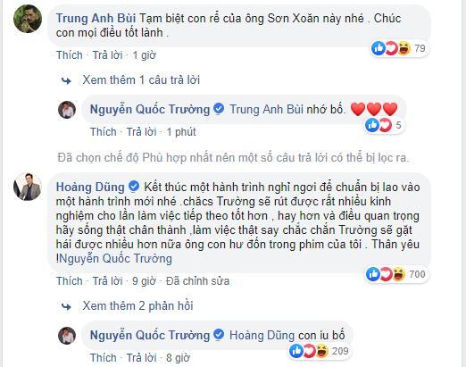 Quốc Trường ngậm ngùi chia tay 'Về nhà đi con', nhưng đáng chú ý hơn là bình luận của 'bố' Trung Anh và 'bố' Hoàng Dũng 1