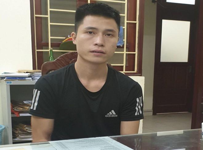 Nguyễn Duy Cường tại cơ quan công an.