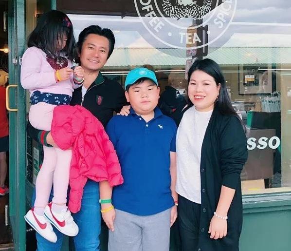 Hình ảnh gia đình hạnh phúc vừa được Trương Minh Cường chia sẻ cách đây không lâu
