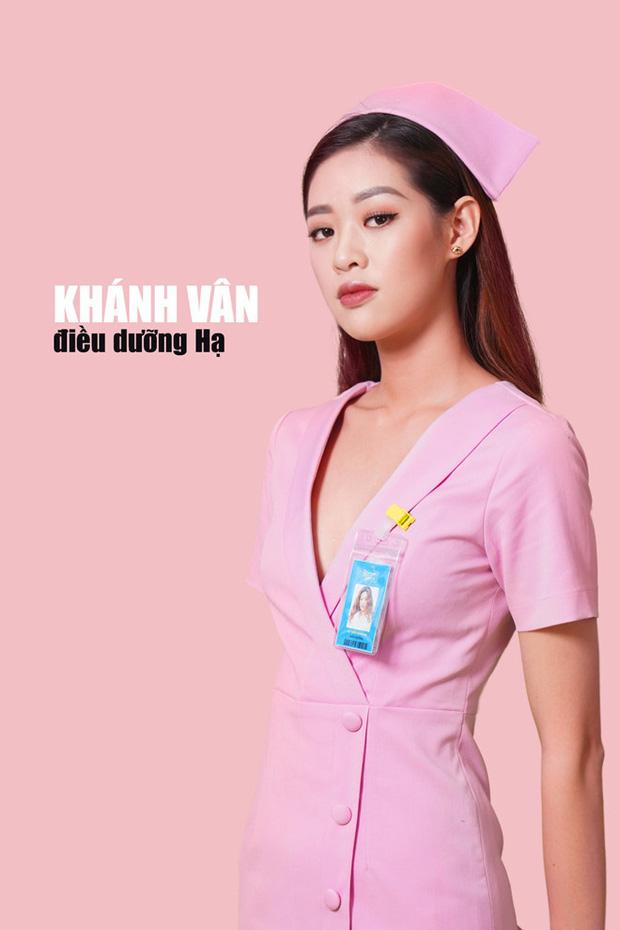 Trước khi đăng quang Hoa hậu Hoàn vũ 2019, Khánh Vân đóng phim về y tá mặc hở cổ đến tận ngực 2