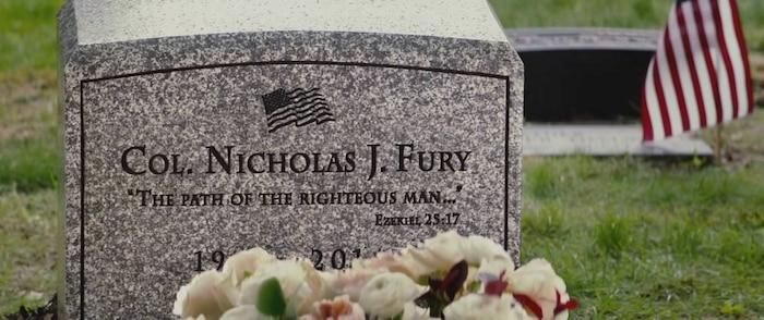 Phần mộ 'giả' của Nick Fury.