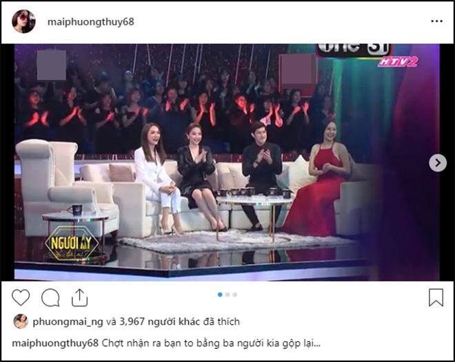 Cô còn thoải mái nhận xét mình to bằng Huy Khánh, Bảo Thy, Hương Giang gộp lại khi đi quay một gameshow truyền hình.