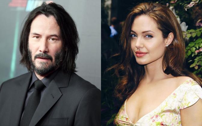 Angelina Joilie và Keanu Reeves dính tin đồn hẹn hò.
