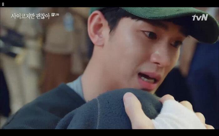 'It's Okay to Not Be Okay' tập 2: 'Điên nữ' Seo Ye Ji vô tư đánh người để bảo vệ 'crush' Kim Soo Hyun 11
