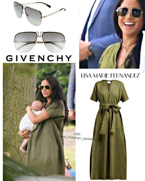 Ngay sau đó các tín đồ tìm ráo riết tên thương hiệu váy chất liệu linen này và kính mát để bắt chước mua theo cô