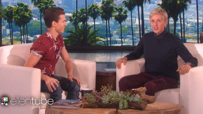 Tom trong chương trình The Ellen's Show