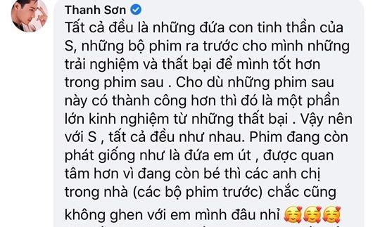 Thanh Sơn khiến fan 'Đừng bắt em phải quên' phật lòng vì phát ngôn nhạy cảm liên quan đến 'thầy Duy', phải lên Facebook đính chính lại 2