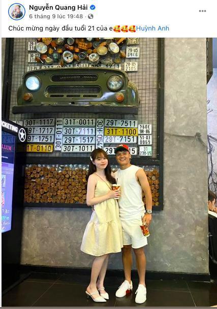 Yêu nhau 4 tháng và đây là lần Huỳnh Anh 'thả thính' Quang Hải ngọt ngào nhất 1