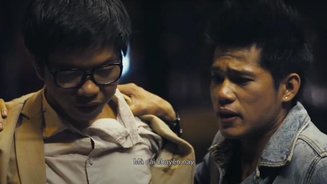 Tiến Thành và Thái Hòa trong phim 'Long Ruồi'.