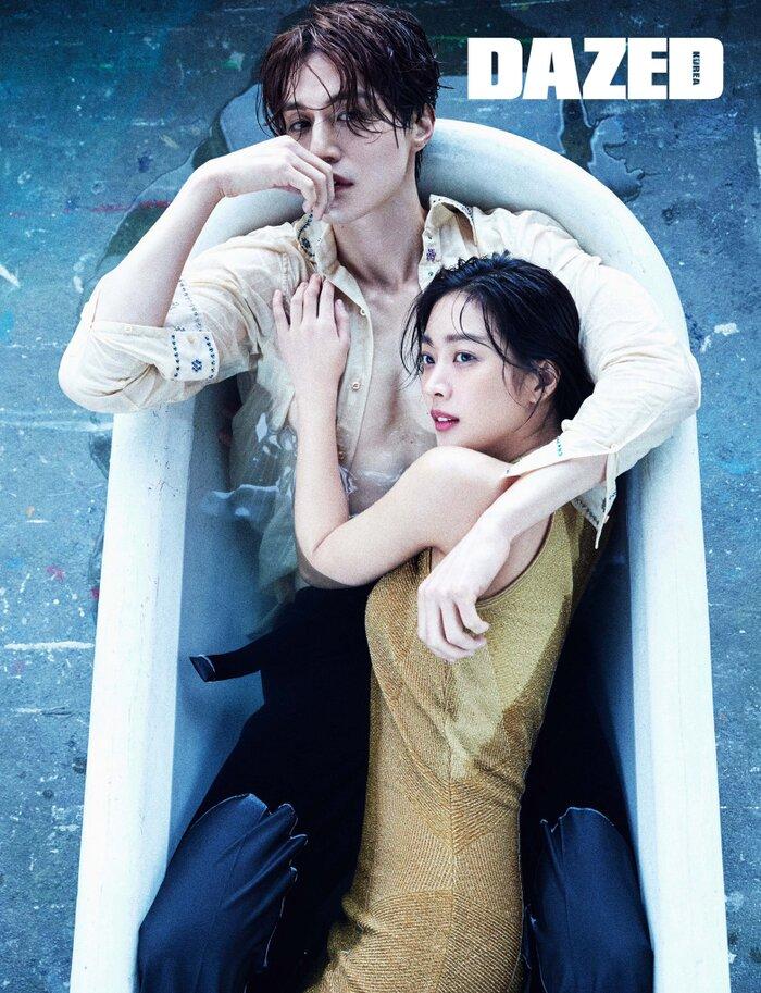 Lee Dong Wook khoe ngực, chụp ảnh 'ướt át' với Jo Bo Ah trong bồn tắm 4