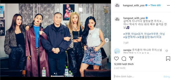 Hình ảnh được đăng tải từ chương trình Hangout With Yoo.