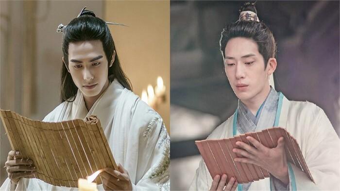 Tống Uy Long vai Trương Bình (bên trái) và Tỉnh Bách Nhiên vào vai Lan Giác
