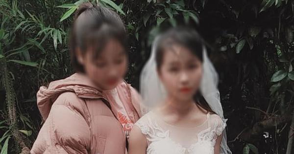 Hình ảnh cô dâu 'nhí' mới 14 tuổi được đăng tải trên mạng xã hội.