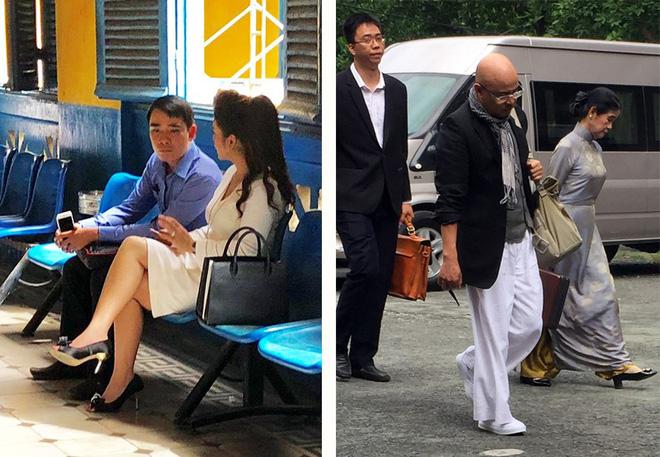 Vợ chồng ông Đặng Lê Nguyên Vũ, bà Lê Hoàng Diệp Thảo trong một lần đến tòa.