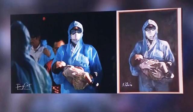 Tác phẩm của nhiếp ảnh gia Lưu Trọng Đạt (trái) và sản phẩm bị sao chép (phải).