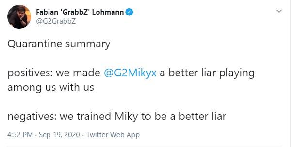 HLV của G2 Esports than phiền rằng Wunder chơi Imposter quá tốt còn Mikyx nói dối giỏi một cách lạ thường