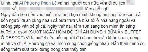 Chia sẻ mới nhất của Thái Trinh về việc bản thân bị ngộ độc.