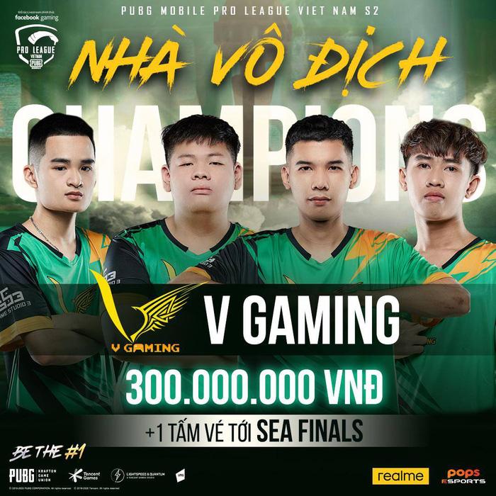 Soán ngôi BOX Gaming, V Gaming chính thức trở thành tân vương của PUBG Mobile Việt Nam, ẵm ngay 300 triệu đồng tiền thưởng 0
