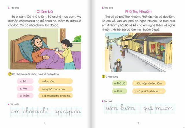 Dự thảo tài liệu một số bài học đã được bổ sung, thay thế trong sách Tiếng Việt lớp 1 bộ sách Cánh Diều. Ảnh: TL
