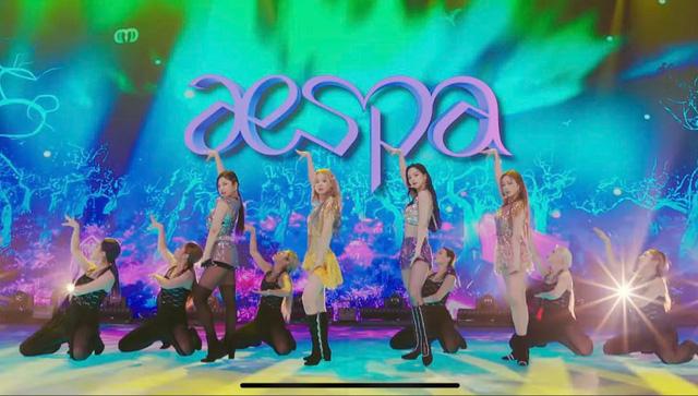 Màn trình diễn của aespa trên sân khấu đầu tiên.
