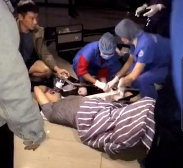 Ông Nguyễn Văn C. gặp nạn khi bước từ trong thang máy ra.