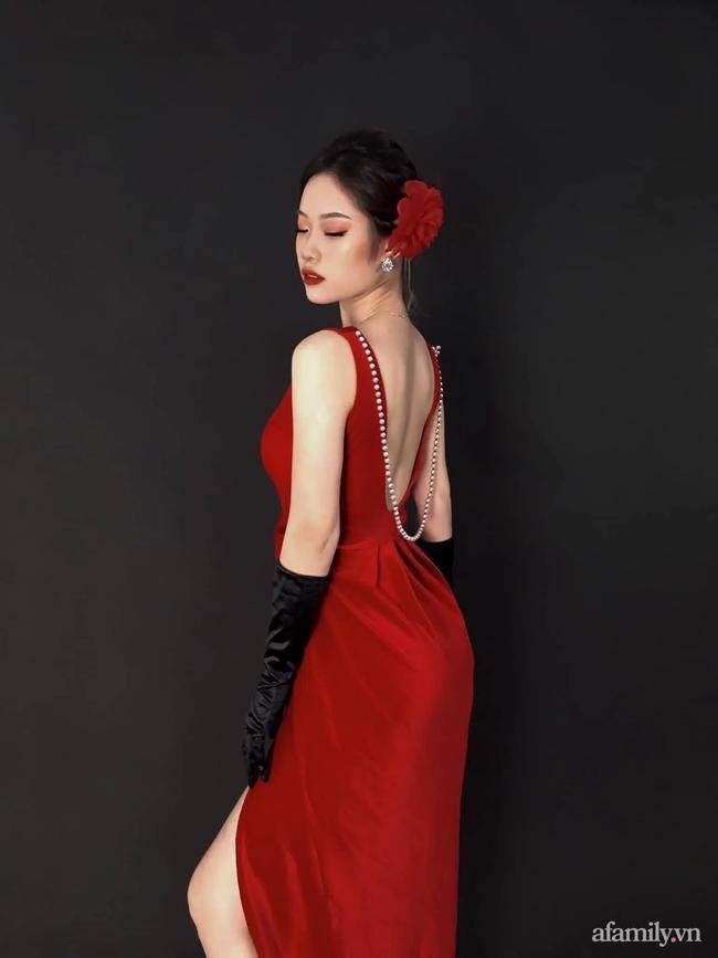 Kim Minh là cô gái có nhan sắc xinh đẹp.
