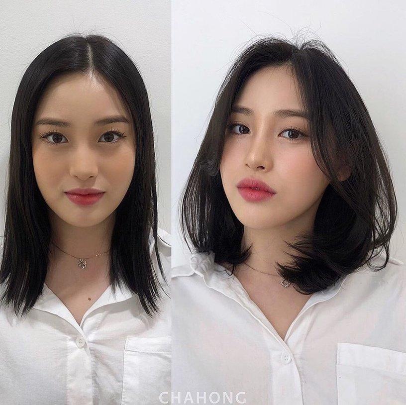 Gái Hàn có chiêu làm tóc biến mặt từ tròn thành thanh thoát mà hay nhất là cực đơn giản và không cần ra tiệm 2