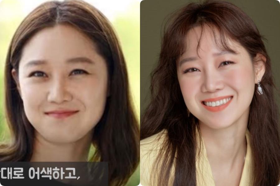 Không muốn để tóc mái quá nhiều, Gong Hyo Jin chọn kiểu mái lưa thưa vài sợi rủ trước trán. Phần tóc mái mỏng manh tôn lên gương mặt tròn. Vài lọn tóc mỏng bay bay trên trán vương nhẹ trên hàng lông mày, cũng che đi phần nào nhược điểm này của cô.