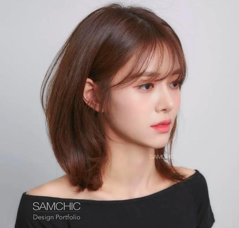 Kiểu tóc mái dành cho những nàng có lông mày thưa thớt, ngắn một mẩu 5