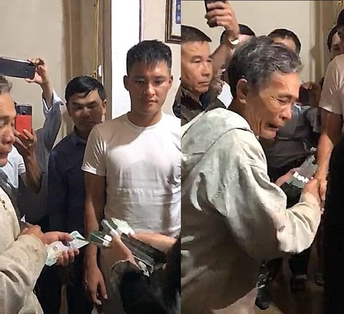 Nhiều người dân bật khóc khi nhận tiền cứu trợ từ Công Vinh - Thủy Tiên.