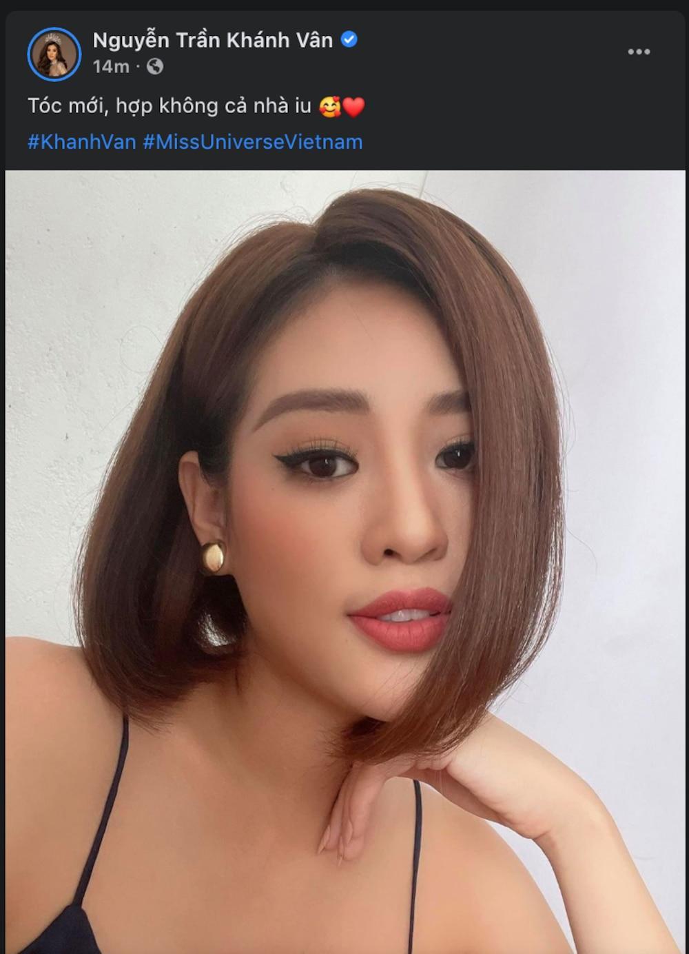 Khánh Vân bất ngờ cắt tóc ngắn, fan khen ngợi nhưng tiếc style mái dài phù hợp thi Miss Universe 0
