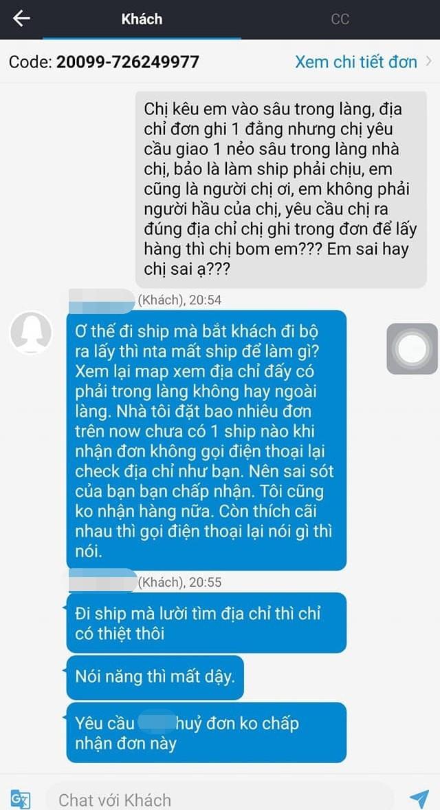Cô nàng gọi đồ ăn nhưng địa chỉ một đằng đòi shipper giao một nẻo, không được chấp nhận liền giận dữ 'bom' hàng 2