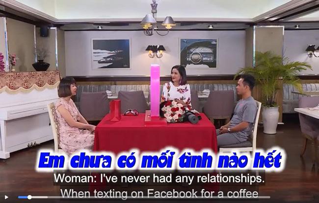 Cô gái trong chương trình thừa nhận mình chưa có mối tình nào