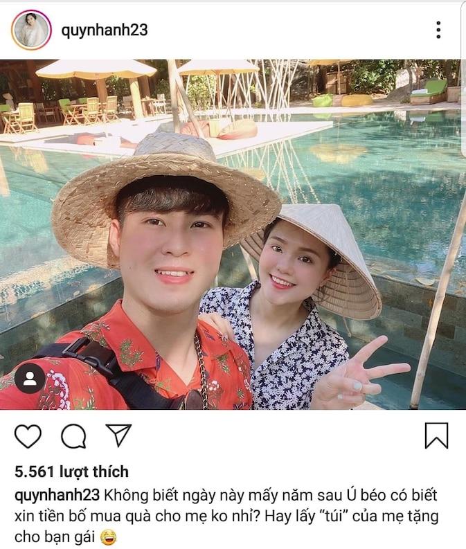 Quỳnh Anh xoa dịu dư luận bằng tấm hình tình cảm với chồng.