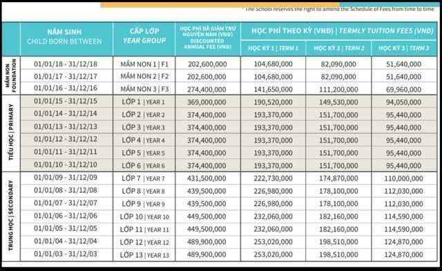 Sốc với mức học phí lên đến cả tỷ đồng/năm của các trường quốc tế ở TP.HCM 4