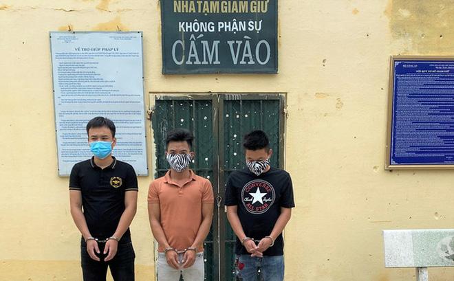 3 thanh niên bị Công an huyện Quảng Xương điều tra, bắt giữ