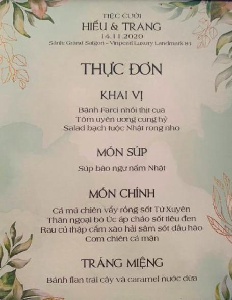 So kè thực đơn ''sơn hào hải vị'' giữa hai ''siêu đám cưới'': Công Phượng và streamer Xemesis 3