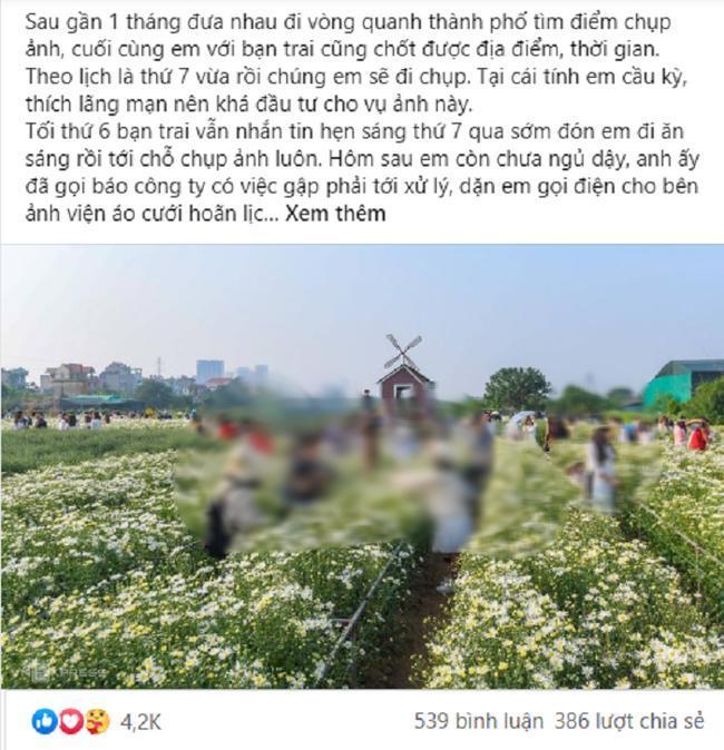 Bài chia sẻ của cô gái